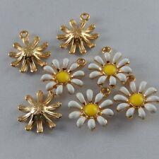 27x  Multi-Color Alloy Enamel Sun Flower Jewelry Pendants Charms Findings 50992
