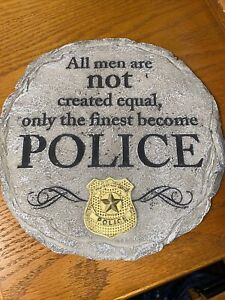 Police Stepping Stone Police Finest Wall Decor