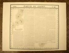 ILES DU JAPON Carte géographique d'Asie n°89 VANDERMAELEN 1827 old antique map