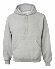 2XL Fruit of the Loom Super cotton Hooded Sweatshirt GRAY New
