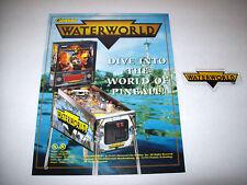 PINBALL MACHINE NOS Sales Flyer + Plastic Promo Keychain Gottlieb WATERWORLD