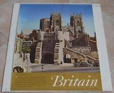 ORIGINAL VINTAGE BOOTHAM BAR YORK BRITAIN ENGLAND TRAVEL TOURIST POSTER 1959