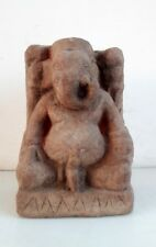 1850's Old Hand Carved Sand Stone Elephant Hindu Lord Ganesha Statue Sculpture