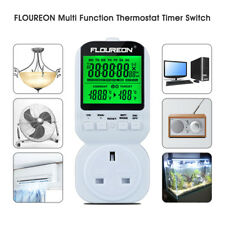 New LCD Electric Thermostat Timer Switch Socket Temperature Controller Plug UK