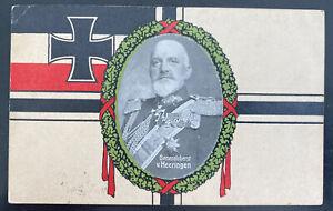 1915 Chemnitz Germany picture postcard Cover To Kiel General Heeringen