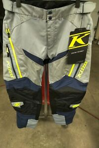 KLIM Men's Dakar Motorcycle Dual Sport off road ITB PANT Vivid Gray 34