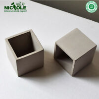 Cube Concrete Silicone Mold Planter Flower Pot Cement Vase Mould Craft Hand Make