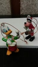 Vintage Disney Pluto and Donald Duck Rubber Christmas Ornaments