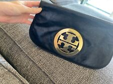 Authentic Tory Burch Black And Gold Clutch Bag Brilliant Condition