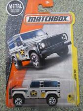 MATCHBOX 2017 #048/125 LAND ROVER 90 argent MBX CONSTRUCTION long carte
