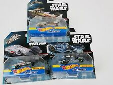 Hot Wheels 2016 Star Wars Carships lot of 3 X Wing Tie Millenium Falcon