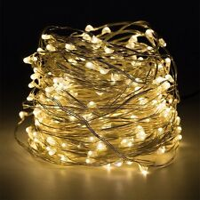 10m 100 LED Flexible Wasserdicht Lichterkette Innen Außen Micro Kupfer Draht NEU
