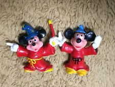 Mickey Mouse The Sorcerer's Apprentice from Fantasia Lot of 2 Pvc Figures