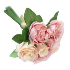 Crystal Roses Bridesmaid Wedding Bouquet Bridal Artificial Silk Flowers