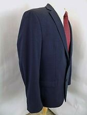 Bar III Mens Sport Coat Sz 44 L Navy Ck Skinny Fit Blazer 2 Butn Stretch Jacket