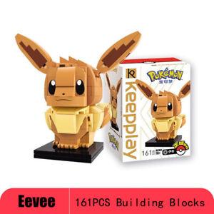 161PCS Pokemon Monster Eevee Building Blocks Mini Construx Figure Toys Kids Gift