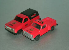 Two 1/64 Scale 1980 Chevy C/K Fire Dept Pickup Truck Diecast Emergency Vehicles