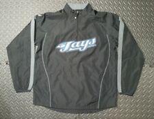 Unisex Youth Toronto Blue Jays Track Baseball Jacket SZ L Black