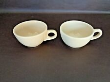 Vintage Homer Laughlin Restaurant Coffee Cups Set Of Two (Cat.#13A077)