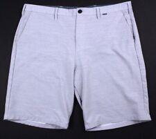 mens light gray HURLEY for BUCKLE hybrid shorts lightweight stretch 40 x 11