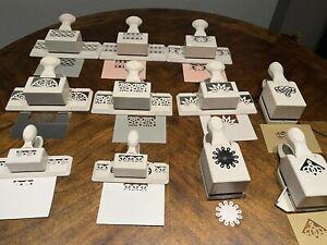 Lot Of 11 Martha Stewart Scrapbooking Paper Punch Cutter Border