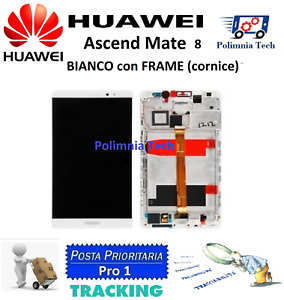 DISPLAY HUAWEI MATE 8 BIANCO - DISPLAY LCD+TOUCH COMPLETO con FRAME OEM