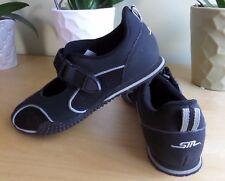 Steve Madden Bulavard Womens Leather/Fabric Black Slip On Velcro Sneakers 6.5