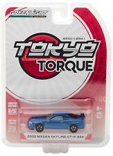1:64 GreenLight *TOKYO TORQUE JAPAN* BLUE 2002 Nissan Skyline GT-R R34 NIP!
