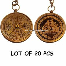 LOT OF 20 PIECES ANTIQUE BRASS CALENDAR KEY CHAIN 50 YEAR