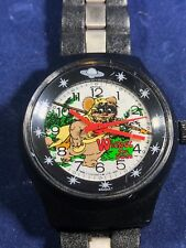 "Very Rare Star Wars ""Wicket the Ewok"" Swiss Made Mechanical Watch 1981"