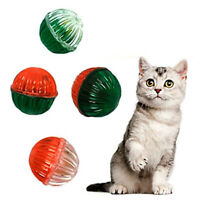 Christmas Cat Toys Jingle Balls 4ct Red Green NEW