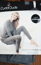 CUDDL DUDS Legging with pockets WARM LAYERS Stretch Thermal waffle knit M NWT