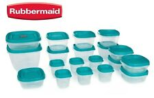 Rubbermaid Food Storage 38 Piece Set with Vent Easy Find Lids, Teal SPECIAL ED.