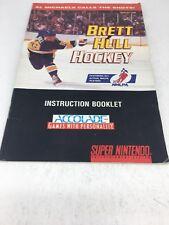 Brett Hull Hockey  (SNES Nintendo, Manual Only)