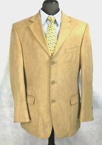 Apt.9 mens tan polyester blazer jacket sport coat 42R