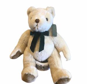 Jointed Teddy Bear Classics Design 005 Green Velvet Bow Stuffed Animal Plush