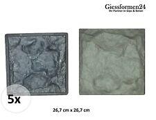 5 Schalungsformen, Giessform, Gussform Beton Gips Wandklinker Riemchen Fassaden