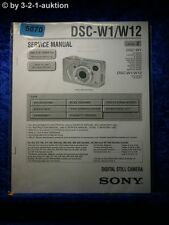 Sony Service Manual DSC W1 /W12 Level 2 Digital Still Camera  (#5870)