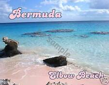 Bermuda - ELBOW BEACH - Travel Souvenir Flexible Fridge Magnet