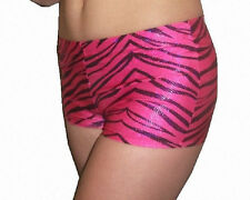 Pizzazz 2500ZG Girl's Size 8-10 (Medium) Pink Glitter Zebra Boy Cut Brief