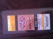 2010 SF Giants Opening Day MINT Unused Ticket Stub 04/09/2010