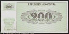 SLOVENIA 200 TOLARJEV P7 1990 EURO MOUNTAIN UNC RARE CURRENCY BILL MONEY NOTE