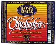 Thomas Kemper OKTOBERFEST beer label. WA 22oz