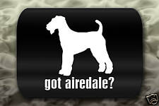 Got Airedale Sticker Decal dog ?