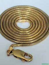 "Italian 9ct Gold Serpentine Link Chain. Hallmarked. 20"". 5.9 Grammes"