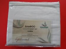 Serenity Home Bamboo Queen Luxury Sheet Set In Solid White