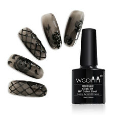 Soak Off UV Gel Nail Polish Transparent Black Coat Long-lasting Manicure Decor