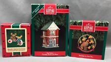 Three Hallmark Keepsake Ornaments - 1985 QX480-5 - 1991 QX413-9 - 1991 QX529-7