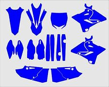 Yamaha YZ 125 250 2015-2017 Graphics Template vector EPS