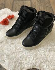 9.5 Women Platform Hidden Wedge Heel high Top Canvas Shape Sneakers Sports Shoes